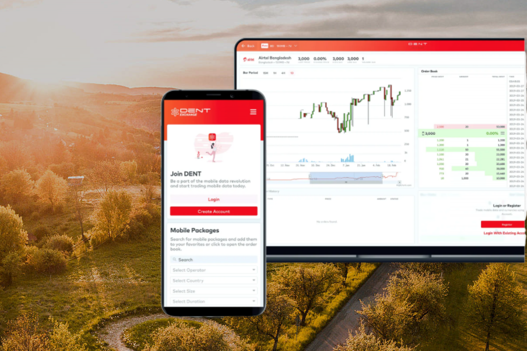 The picture shows the new feature, the Blockchain-based DENT World Telco, which enables worldwide voice calls directly from the DENT App.
